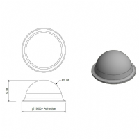 Clear Dome Bumpers 19.0 x 9.5mm